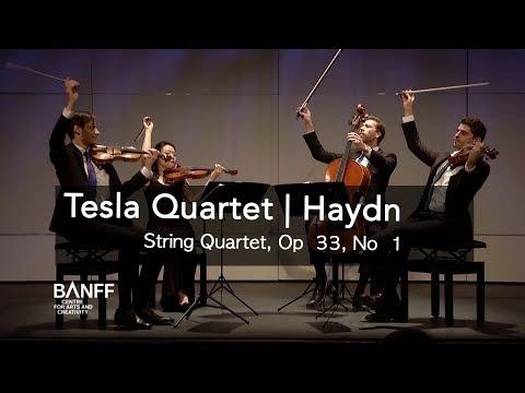 Tesla Quartet | Joseph Haydn, String Quartet, Op  33, No  1