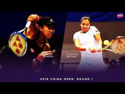 Naomi Osaka vs. Zarina Diyas | 2018 China Open First Round | 大坂なおみ WTA Highlights