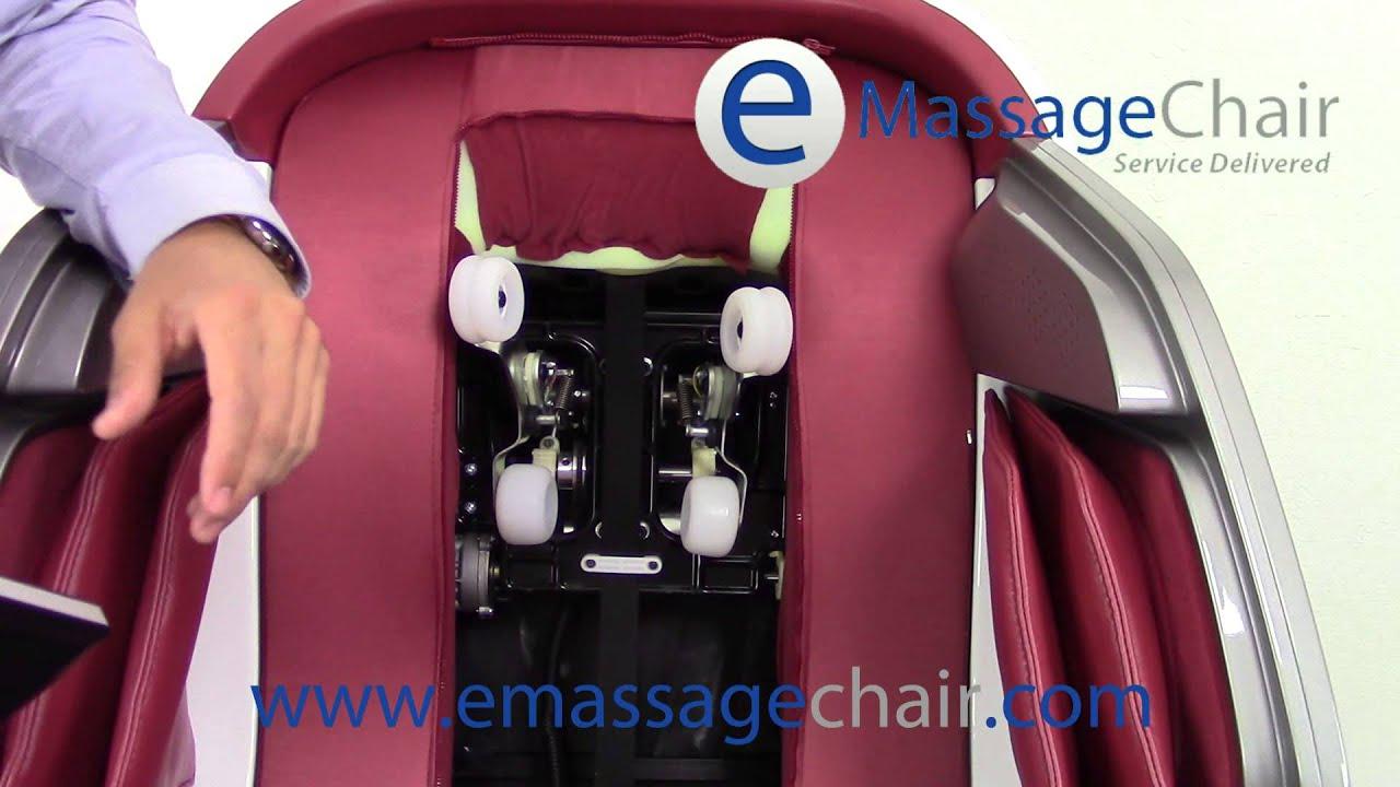 infinity iyashi. infinity iyashi massage chair video - exposed rollers