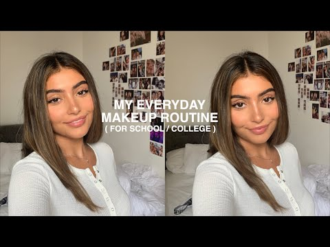 everyday college (or school)  makeup routine🤓 thumbnail