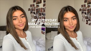 everyday college (or school)  makeup routine🤓