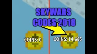 ROBLOX SKYWARS 2019 *ALL THE CODES* (Link in the description for the new updated codes)