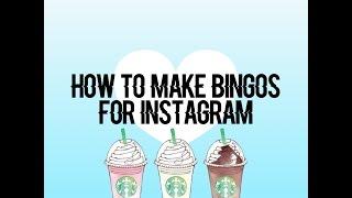 How To Make Bingos For Instagram