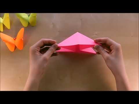 2 Basteln Origami Schmetterling falten mit Papier Bastelideen DIY Geschenk basteln  Geschenkideenyou