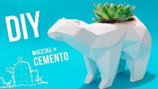 DIY / ORIGINAL MACETA DE CEMENTO - papercraft