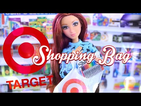 DIY - How to Make: Target Shopping Bags - Quick Craft - Doll Crafts - 4K