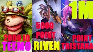 Tristana Main 500 Master Point  - Tristana Montage - League of Legends