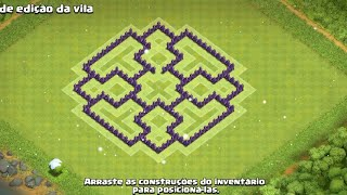 Layout CV7 Clash Of Clans  100% ANTI PT