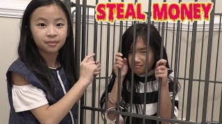 Pretend Play Police THIEF STEALS MONEY Gone Wrong