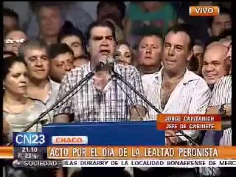Jorge Capitanich en el día de la Lealtad Peronista en Campo Largo (Chaco) - YouTube
