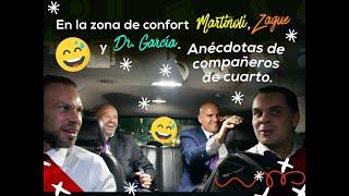 En la zona confort con Martinoli, Zague y Dr. García anécdotas de compañeros de cuarto.