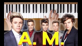 A. M. (One Direction) [Easy Piano Tutorial]