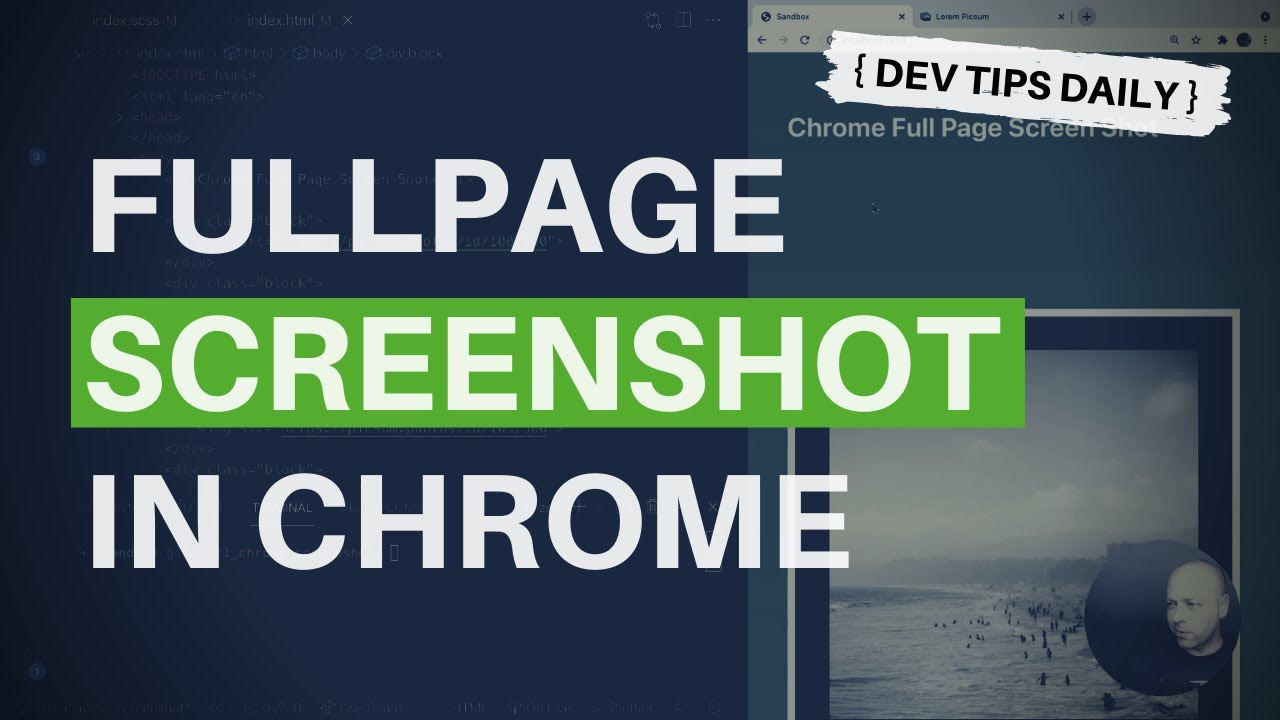 Taking a full-page screenshot in Chrome