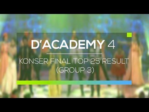 Highlight D'Academy 4 - Konser Final Top 25 Result Group 3