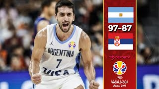 Argentina 97-87 Serbia - Resumen - Mundial de Básquet China 2019 - Cuartos de Final - Highlights