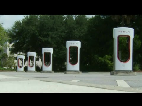 New electronic vehicle charging stations