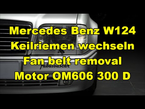 keilriemen wechseln fan belt removal mercedes benz. Black Bedroom Furniture Sets. Home Design Ideas