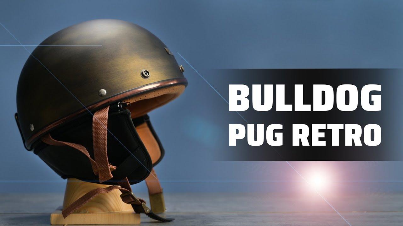 Trên Tay Bulldog Pug Retro | Mũ bảo hiểm nữa đầu cá tính, mang dáng dấp hoài cổ