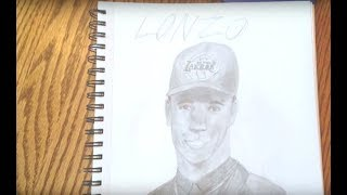 9 year old Draws LONZO BALL- Los Angeles Lakers