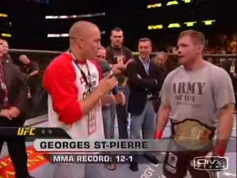GSP Is Not Impressed By Matt Hughes' Performance