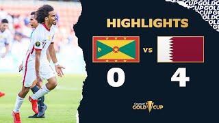 Highlights: Grenada 0-4 Qatar  Gold Cup 2021