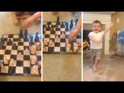 Adorable Boy Cheats At Chess