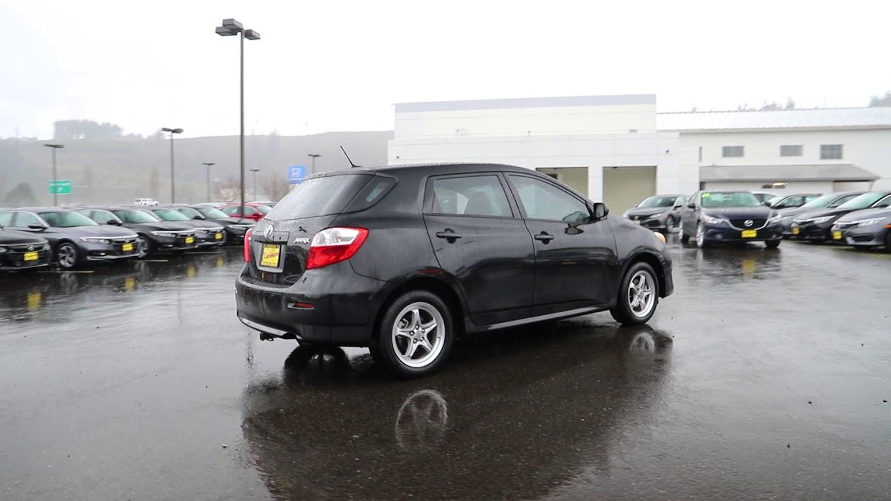 2009 Toyota Matrix Base Black Metallic 9c086458 Seattle Sumner Puyallup