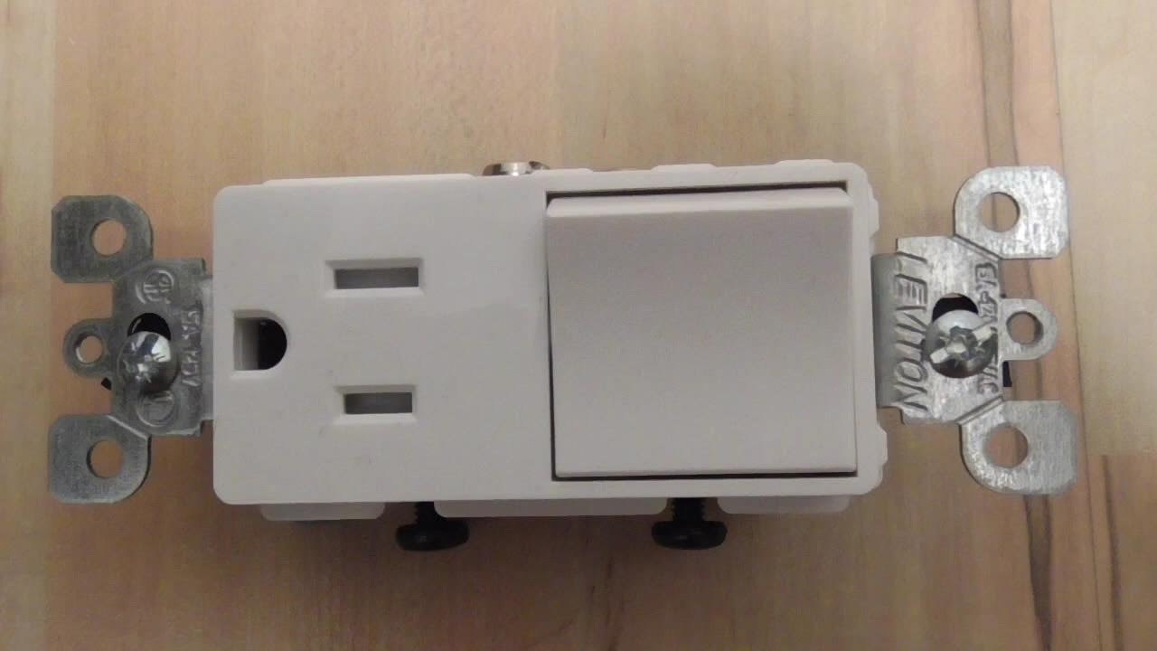 converting a light switch to a switch outlet combo diy lvt1739 t 5625 decora levition [ 1280 x 720 Pixel ]