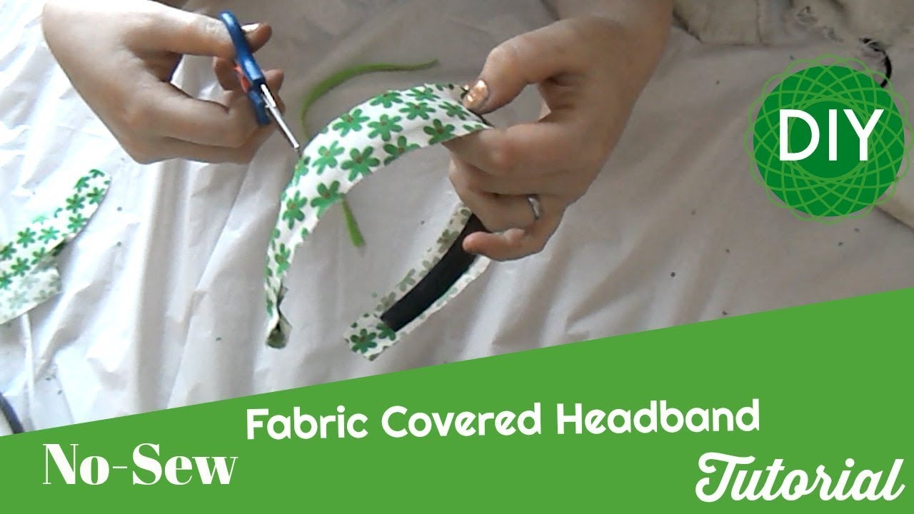 Fabric Covered Headband Tutorial DIY