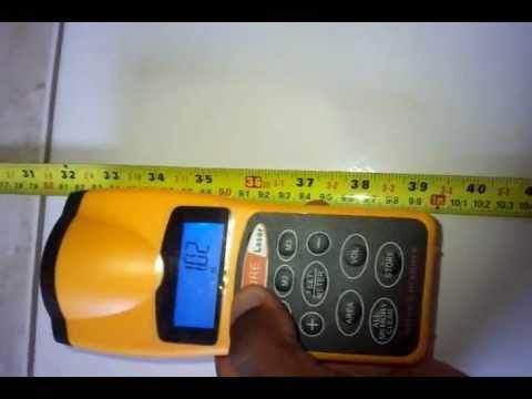 Como usar a trena Digital e comprovando a sua precisão
