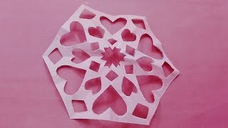 How to make Diy paper cutting flower designs/ paper flowers origami Tutorial