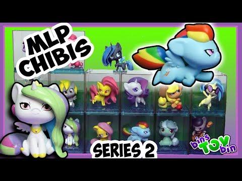 My Little Pony Chibi Vinyl Figures SERIES 2 Full Set Review! Princess Celestia, Luna, Rainbow Dash