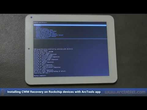ClockworkMod Recovery (CWM) Easy Install On Rockchip Devices With ArcTools
