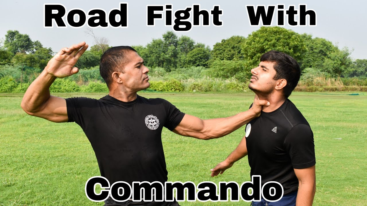 Road Fight With Commando || Self Defence
