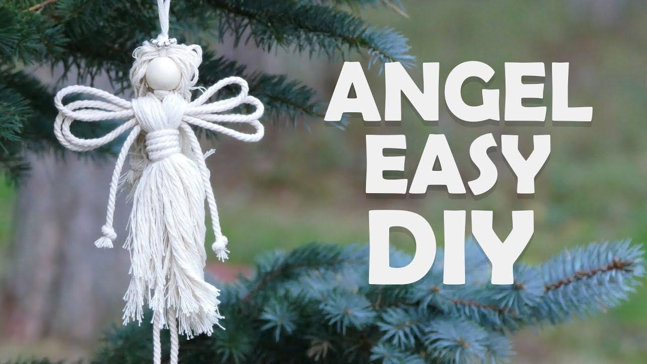 Easy Diy Angel Christmas Craft Ideas By Macrame School Youtube