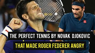 The Perfect Tennis By Novak Djokovic That Made Roger Federer Angry 🔥