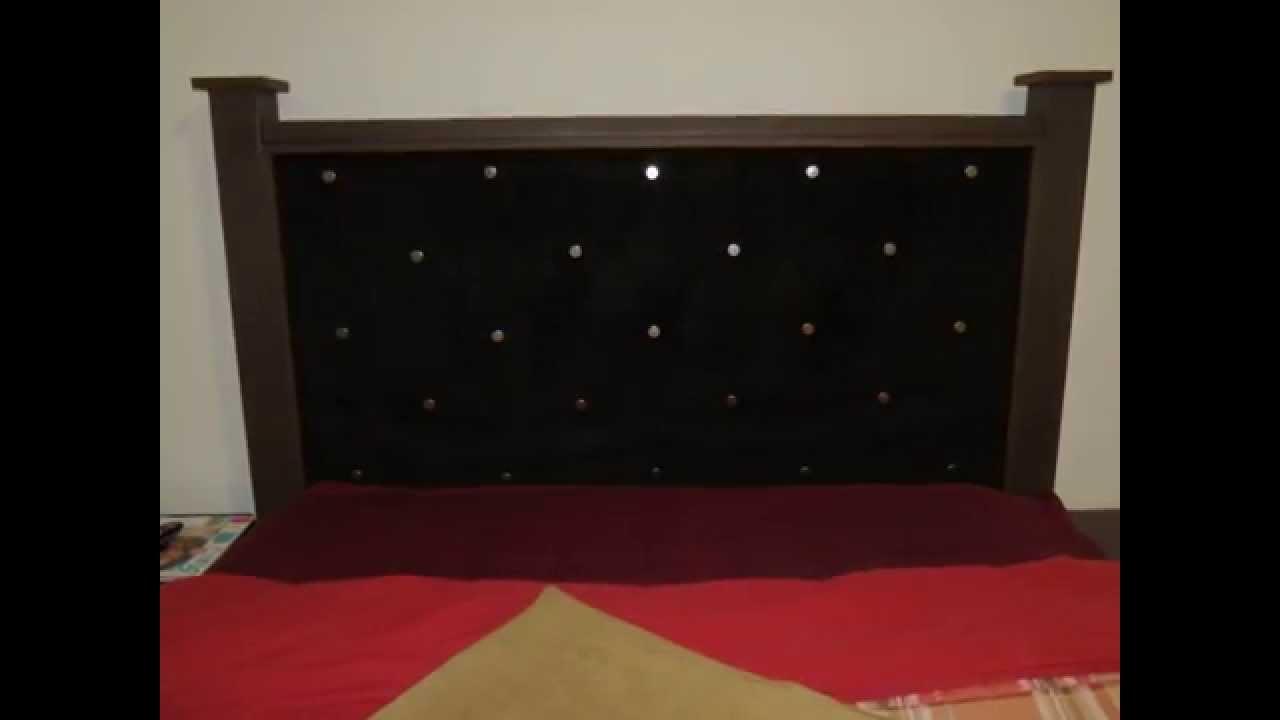 Diy cabecera forrada para cama youtube - Cabeceras de cama de madera ...