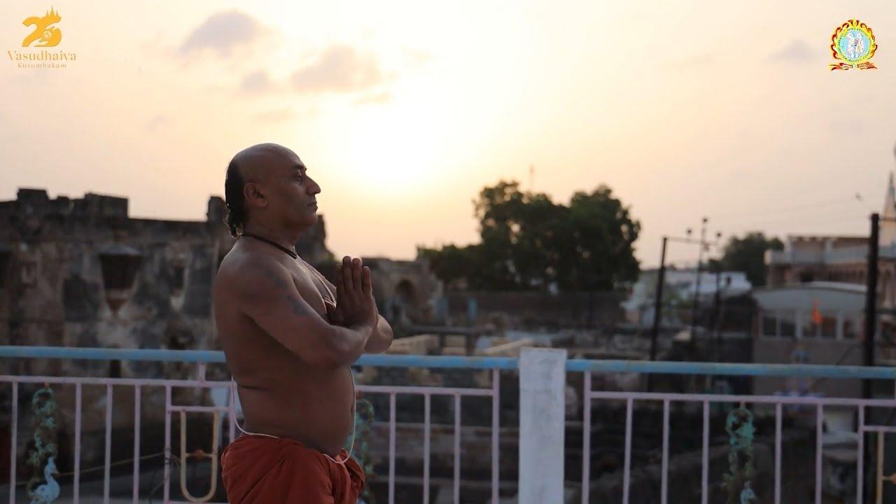 21 June International Yoga day Surya Namaskar - Dr. Swami Satyaprashad   Bhuj Mandir