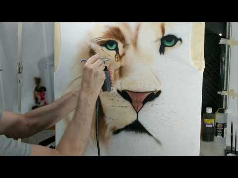 Part 3 is split into 2 videos...How to airbrush a Lion on a t-shirt...