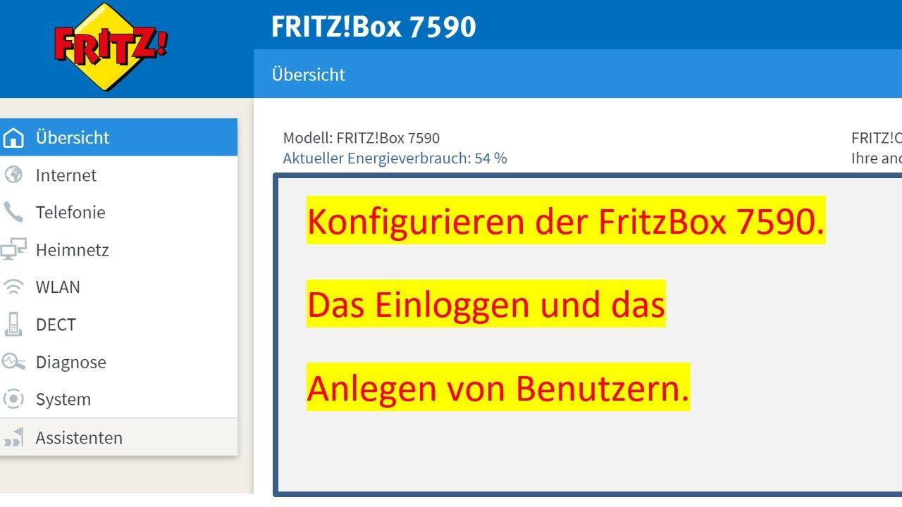 Einloggen, Benutzer anlegen und verändern auf der FritzBox 20 / Login