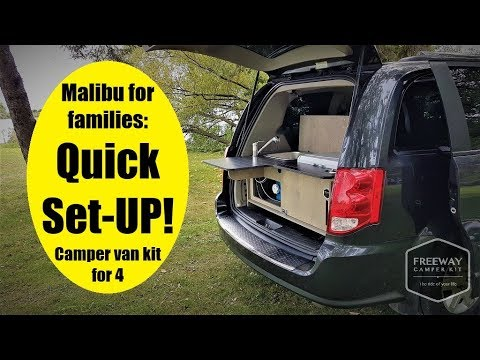 Camper conversion Malibu for families QUICK SET-UP by Freeway Camper Kit
