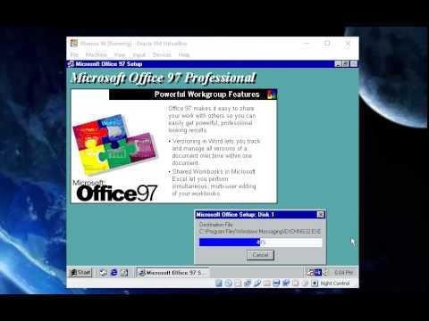 How to install Office 97