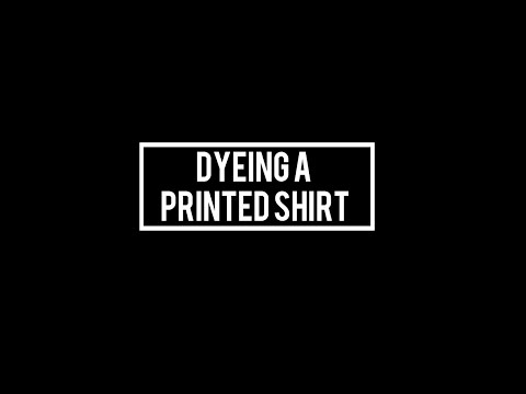 Dyeing A Printed T-shirt