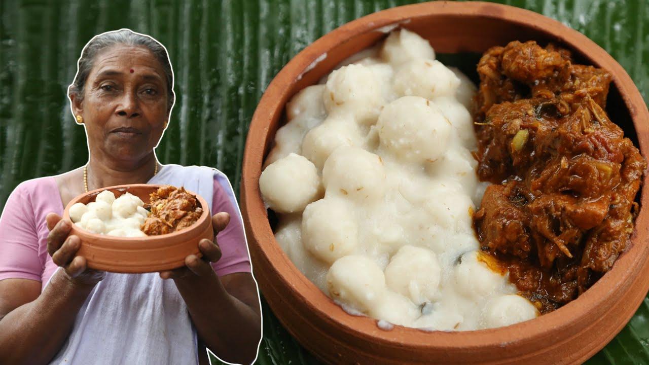 വറുത്തരച്ച നാടൻ കോഴി കറിയും പിടിയും  | Rice Dumplings In Chicken Curry - Pidiyum Kozhiyum