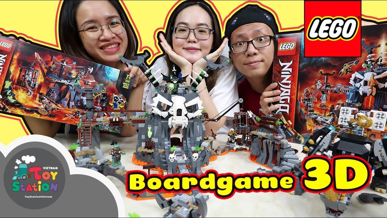 Kết hợp 4 sets LEGO Ninjago thành bộ boardgame 3D khổng lồ siêu đẹp  ToyStation 521