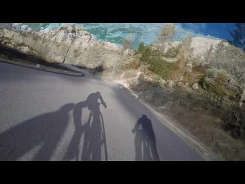 Cycling from Passo Valparola towards Alta Badia in short clips