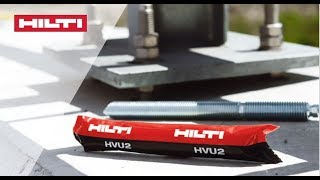 INTRODUCING the Hilti HVU2 capsule chemical anchor for cracked and uncracked concrete