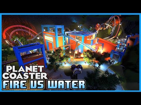 FIRE VS WATER! A Duelling coaster! Coaster Spotlight 159 #PlanetCoaster