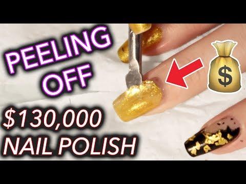 Download Youtube: I peeled off $130,000 gold nail polish and kept it