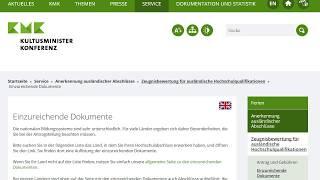 документи в ZAB на Bewertung Підтвердження диплома про вищу освіту в Німеччині
